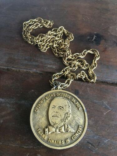 Frank Sinatra Medallion & Chain, Opening Night October 26. 1974