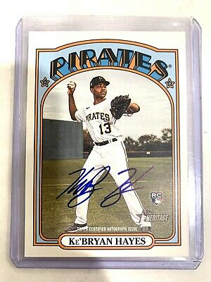 2021 Topps Heritage Ke'Bryan Hayes RC Real One On-Card Auto ROA-KBH PIRATES