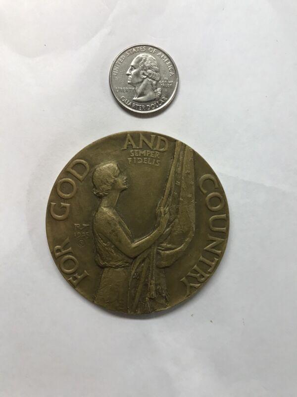 "1925 Bronze American Legion School Award 2.5"""