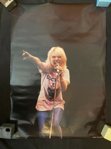 Blondie Doctor X rolled poster Debbie Deborah Harry concert Holland RO 002