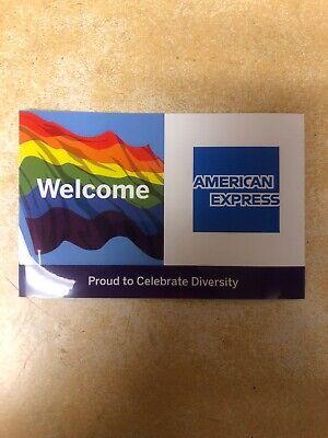 Credit Card Logo Decal Sticker American Express Rainbow Diversity Lgbt.free Ship