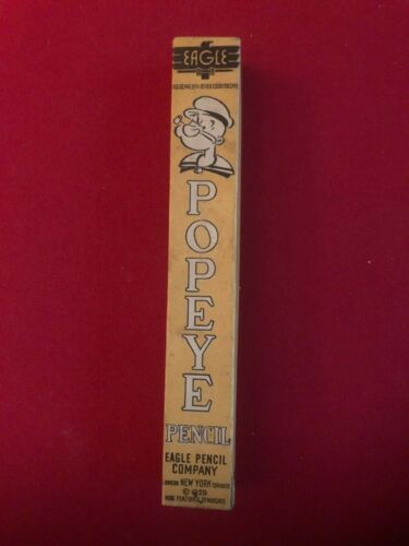 "1929, POPEYE, Giant (10"") Lead Pencil  (Scarce / Vintage)"
