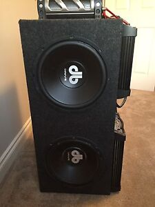 DB Drive custom made box w/subs, amps and cap