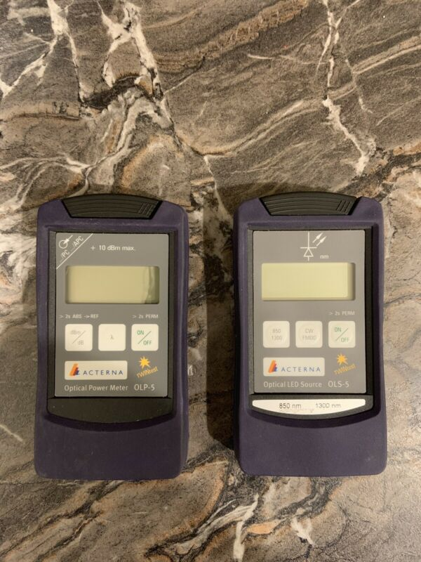 Acterna OLP-5 OLS-5 Fiber Optical Power Meter Optical LED Source