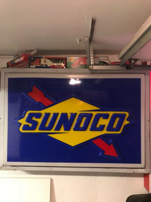 """Sunoco Sign 5'0"""" x 3'0"""" Red, Blue and Yellow"""