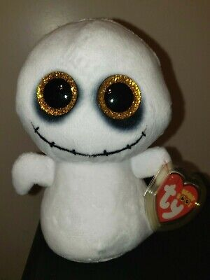 2020 NEW - Ty Beanie Boos - SPIKE the Halloween Ghost (6 Inch) MWMT - IN HAND