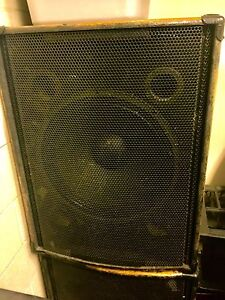 "18"" pa subs.  High power drivers"