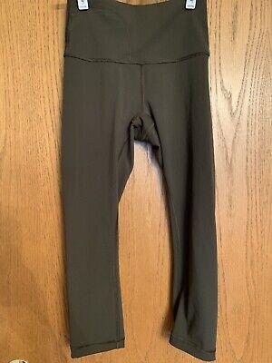 Lululemon Women's Size 4 Athletic Workout Olive Green Capri Legging