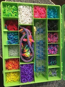 Rainbow Loom Lot- Comes with two cases full!