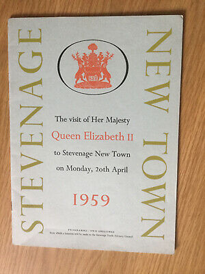 Queen Elizabeth 11 Visits Stevenage New Town Programme 1959