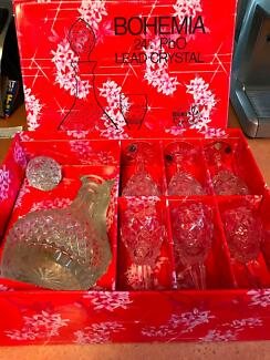 Decanter- Sherry, 24% PbO Lead Crystal 7 pc