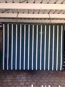 Outdoor Blind Green & White Srtripe Maroochydore Maroochydore Area Preview