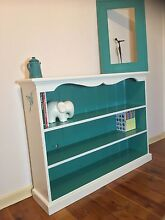 Beautifully refurbished Vintage Bookshelf in White and teal Ermington Parramatta Area Preview