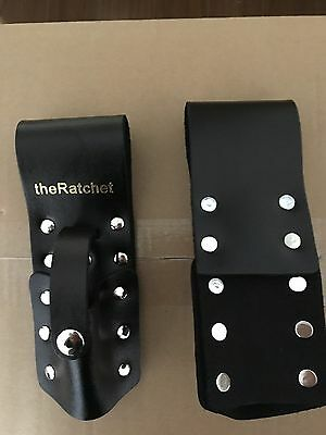 Theratchet Black Leather Scaffold Wrench Ratchet Podger Spanner Holder