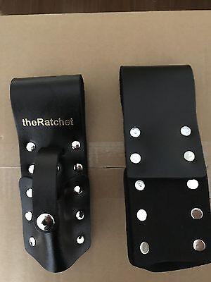 Theratchet Black Leather Scaffold Wrench Ratchet Podger Spanner Holder