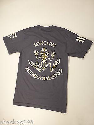 Navy SEAL DEVGRU BROTHERHOOD FROG LOGO T-Shirt GREY SMALL NSW CRUSADER