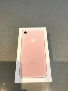 Rose gold iPhone 7 unlocked new refurbished in box