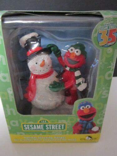 KURT ADLER SESAME STREET ELMO & SNOWMAN CHRISTMAS STOCKING HOLDER