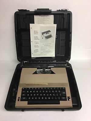 Tested Working Sears The Electronic Communicator 2 Electric Typewriter W Case