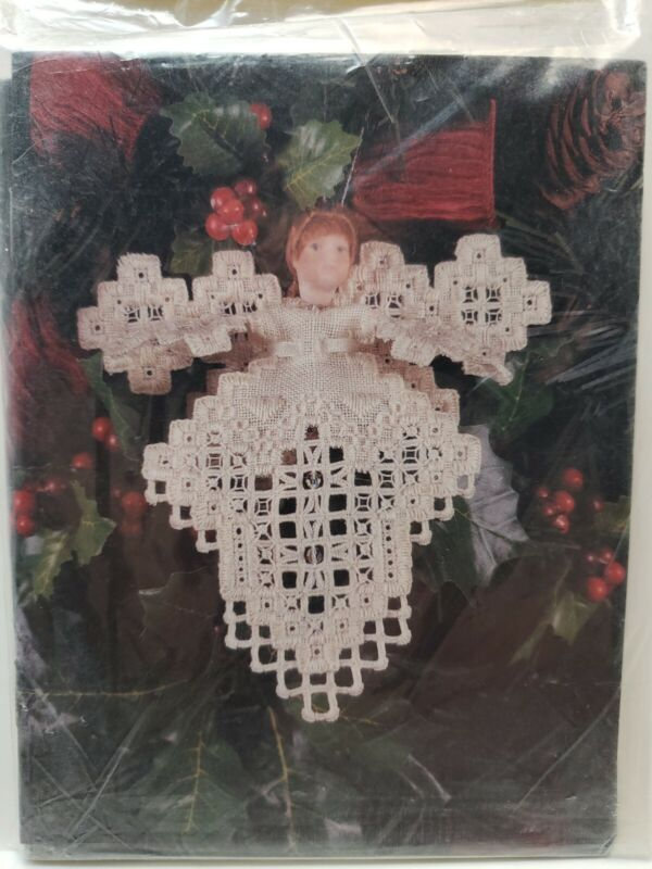 Cross 'N Patch Christmas Cards Set Of 6 Emie Bishop Christmas Angel NOS VTG NIP