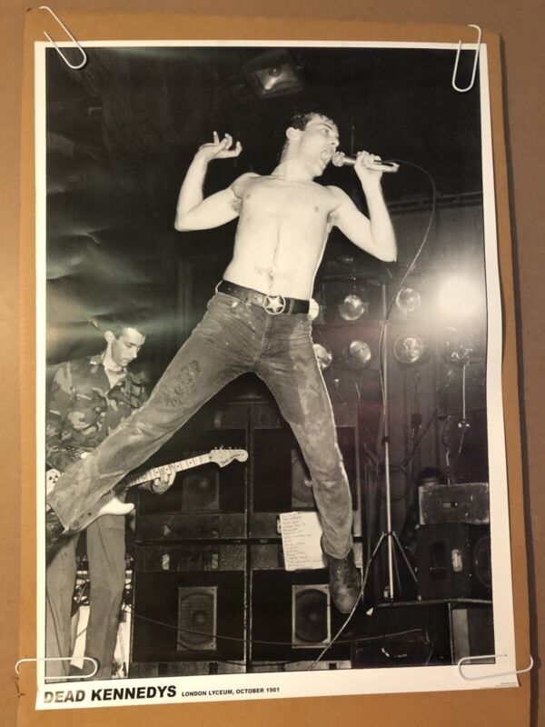 Dead Kennedy's Black & White Microphone Original Vintage Poster 1981 Barry