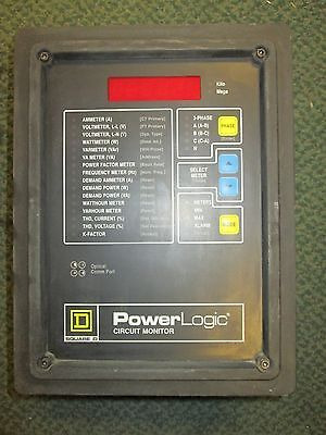Square D Power Logic Circuit Monitor 3020 Cm2150 3090 Vpm-277-c1 Used