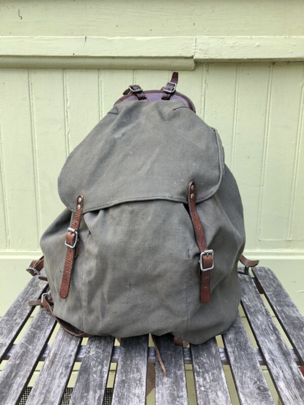 Swedish military backpack Rucksack 1942 WWII with frame