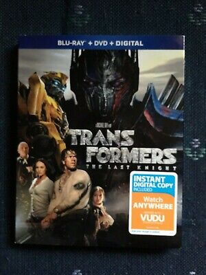 TRANSFORMERS The Last Knight Blu Ray+DVD+Digital New Still In Plastic