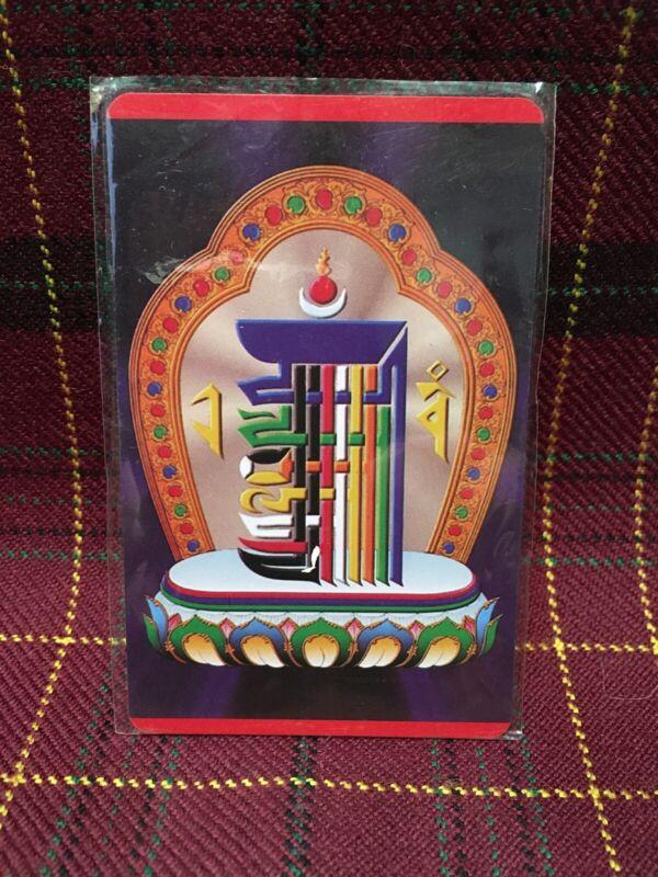 Tibetan Buddhist Talisman Amulet Painting Thangka Card Kalachakra