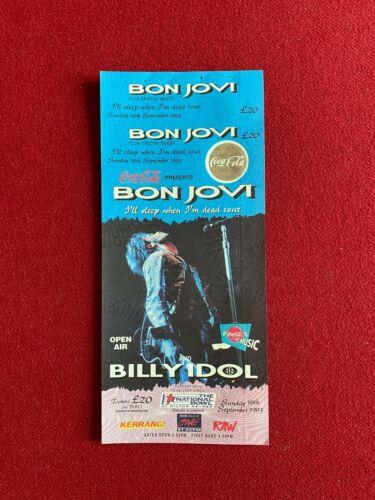 "1993, Bon Jovi, ""Un-Used"" Tour Concert Ticket (Scarce/Vintage) IDOL"