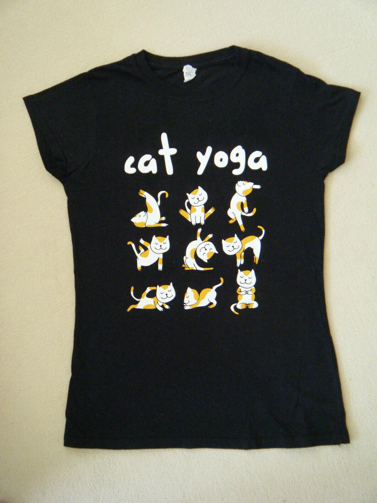 "T-Shirt  von Gildan Softstyle  Yoga "" cat yoga""  Katzenmotive  Gr. /M"