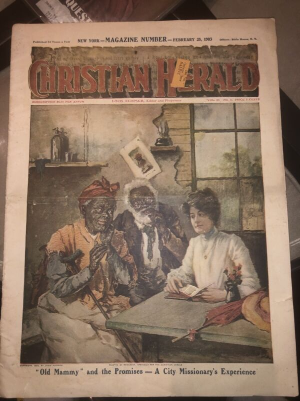 Ex Slaves Being Read The Bible By Traveling Christian Lady~1903 Christian Herald