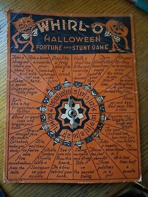 Vintage Whirl-O-Halloween Fortune And Stunt Game By Sandra Pearl