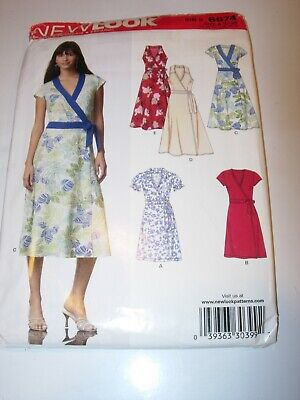 New Look Party Clothes (WOMENS UNCUT NEW LOOK 6674 Sewing Pattern DRESS SUMMER CAREER PARTY SIZE)