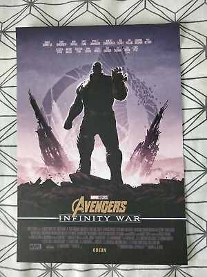 REAL Marvel Avengers Infinity War ODEON Poster 5 Thanos (Plus Staff Credits)