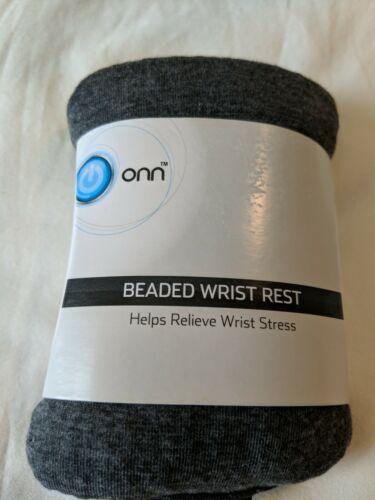 Onn Beaded Keyboard Soft texture Wrist Rest, Charcoal Gray/B