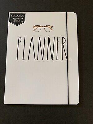 Rae Dunn 2021 Eye Glasses Planner White Htf New Aug 2020-dec 2021