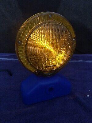 Amber Flashingsteady Construction Safety Barricade Warning Light - New