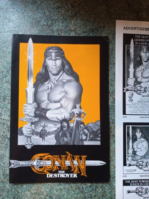 Conan The Destroyer  ~ Original Press Kit Brochure / Synopsis ~ Schwartzenegger
