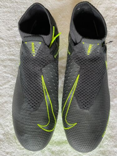 Nike Phantom Vision Elite FG Black/Volt Size 9.5