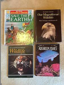 Bulk Set 4 Retro Vintage Wildlife Animals Encyclopedia Books Text Scoresby Knox Area Preview
