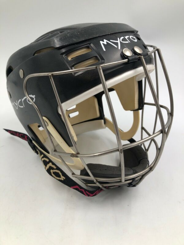 Mycro Hurling Helmet w/ Cage Black Medium 53cm Made In Ireland - Excellent Cond