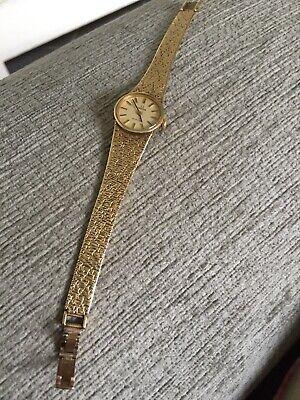 vintage 9ct gold ladies Omega watch
