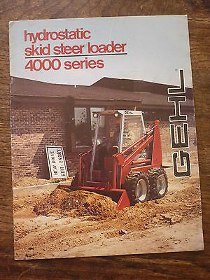 GEHL 4000 SERIES HYDROSTATIC SKID STEER LOADER BROCHURE