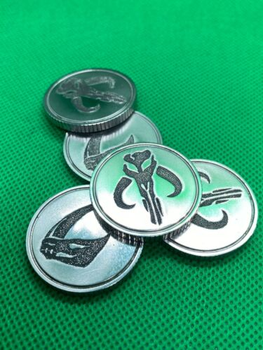 Real Steel Mandalorian Credit Coin for Sabacc, Cosplay, and more!