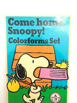 Come Home SNOOPY Colorforms Sticker Charlie Brown 2017 Reproduction 1972 Set
