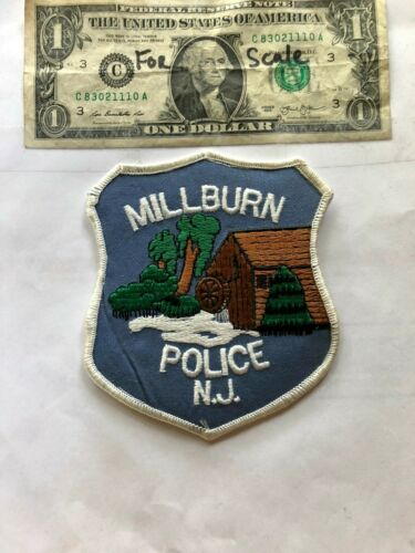 Millburn New Jersey Police Patch un-sewn in Great Shape