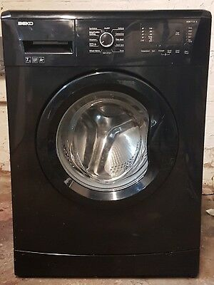 Beko WMB71231B 7kg 1200rpm Freestanding Washing Machine in Black