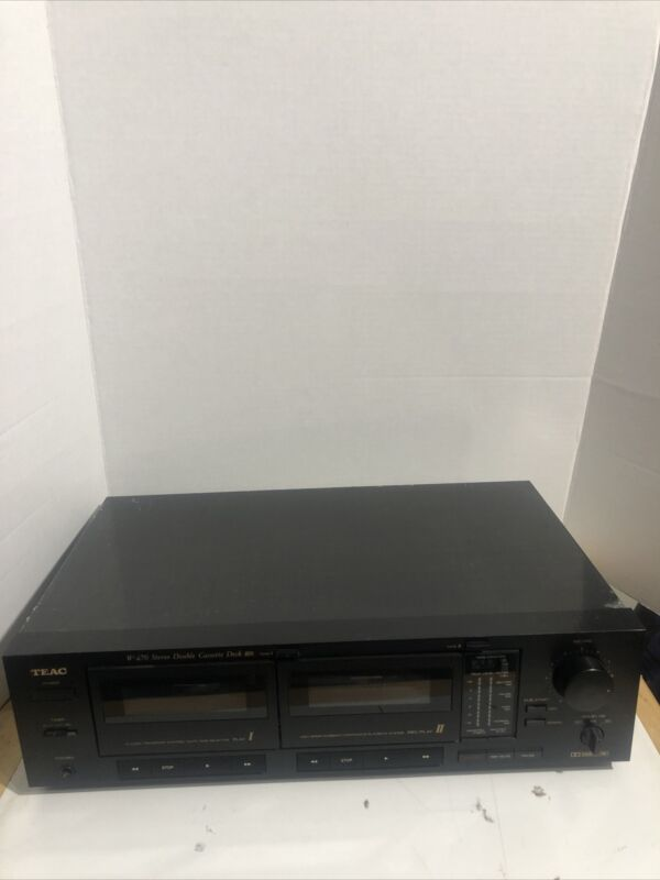 Vintage TEAC W 470 Stereo Double Cassette Deck High Speed Dubbing Dolby Tested