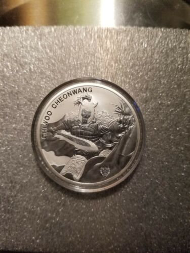 2018 1 oz. SouthKorean .999 Silver ChiwooCheonwangCanis Privy BU coin in capsule